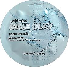 """Voňavky, Parfémy, kozmetika Maska na tvár """"Modrá hlina a čajovník"""" - Cafe Mimi Blue Clay Face Mask"""