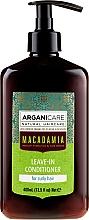 Voňavky, Parfémy, kozmetika Nezmazateľný kondicionér pre kučeravé vlasy - Arganicare Macadamia Leave-In Conditioner