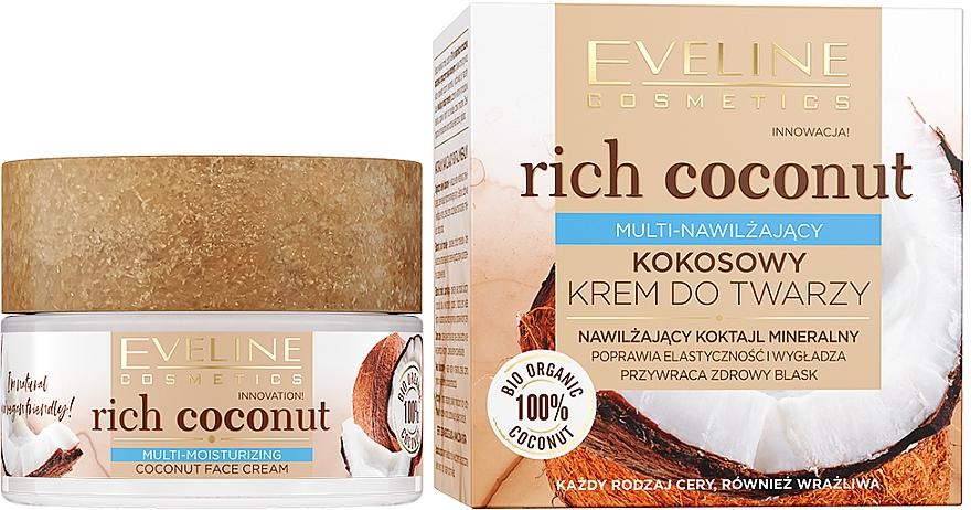 Hydratačný krém na tvár s kokosom - Eveline Cosmetics Rich Coconut Face Cream
