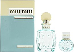 Voňavky, Parfémy, kozmetika Miu Miu L'Eau Bleue - Sada (edp/100ml + edp/20ml)