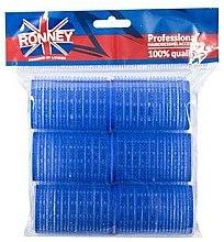 Voňavky, Parfémy, kozmetika Natáčky na suchý zips 40/63, modré - Ronney Professional Velcro Roller