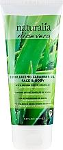 Voňavky, Parfémy, kozmetika Exfoliačný čistiaci gél - Naturalia Aloe Vera Exfoliating Cleanser Gel Face & Body