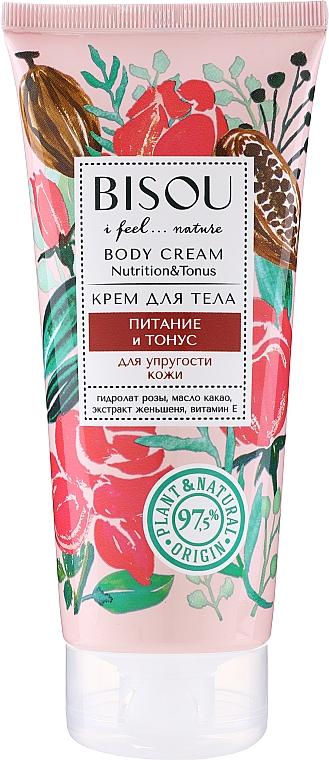 "Krém na telo ""Výživa a tonus"" - Bisou Rose&Cacao Body Cream"