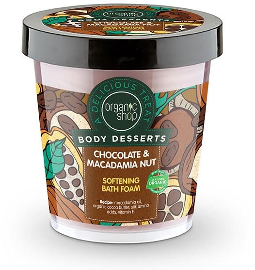 """Zmäkčujúca kúpeľová pena """"Čokoláda a orech makadamií"""" - Organic Shop Body Desserts Chocolate & Macadamia Nut — Obrázky N1"""