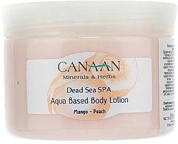 """Voňavky, Parfémy, kozmetika Lotion na telo na báze vody """"Mango-Broskyňa"""" - Canaan Minerals & Herbs Aqua Based Body Lotion Mango-Peach"""