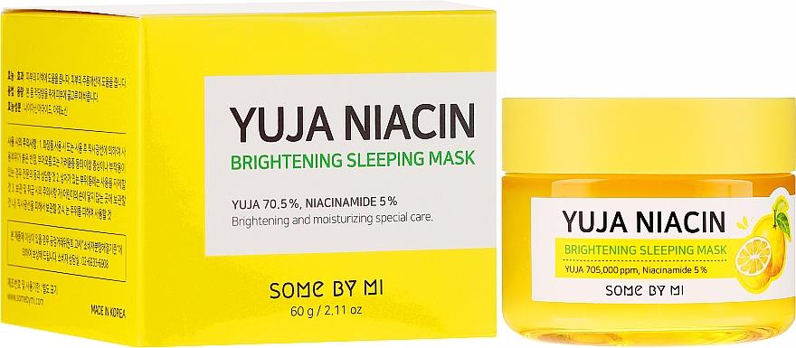 Nočná vyrovnávacia tón maska na tvár - Some By Mi Yuja Niacin Brightening Sleeping