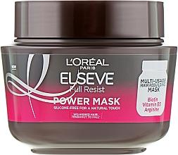 Spevňujúca maska na oslabené vlasy - L'Oreal Paris Elseve Full Resist Power Mask — Obrázky N1