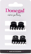 Voňavky, Parfémy, kozmetika Sponka do vlasov FA-9930, mini, čierna, 4 ks - Donegal Hair Clip