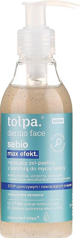 Čistiaci gél-peeling - Tolpa Dermo Face Sebio Max Efect Gel-peeling