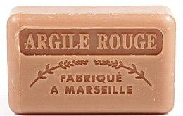 "Voňavky, Parfémy, kozmetika Marseillské mydlo ""Červená hlina"" - Foufour Savonnette Marseillaise Argile Rouge"