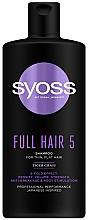 Voňavky, Parfémy, kozmetika Šampón s pupočníkom ázijským pre tenké vlasy bez objemu - Syoss Full Hair 5 Shampoo