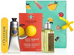 Voňavky, Parfémy, kozmetika Sada - L'Occitane Verbena (sh/gel/75ml + scrub/6ml + foot/cr/30ml + nail/file)