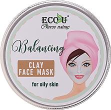 Voňavky, Parfémy, kozmetika Vyvažovacia maska na tvár s hlinou pre mastnú pleť - Eco U Balancing Clay Face Mask For Oily Skin