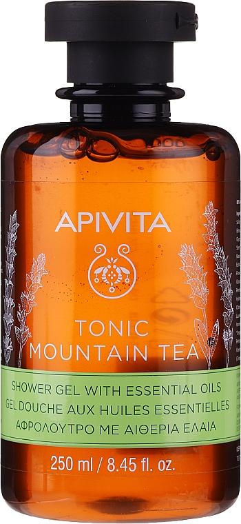 "Sprchový gél ""Horský čaj"" s éterickými olejmi - Apivita Tonic Mountain Tea Shower Gel with Essential Oils"