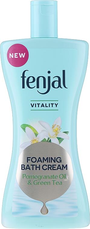 """Sprchový krémový gél """"Olej z granátového jablka a zelený čaj"""" - Fenjal Vitality Pomegranate Oil & Green Tea Foaming Bath Cream"""