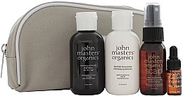 Voňavky, Parfémy, kozmetika Sada - John Masters Organics Essential Travel Kit For Dry Hair (sh/60ml + cond/60ml + volumizer/30ml + oil/3ml + bag)