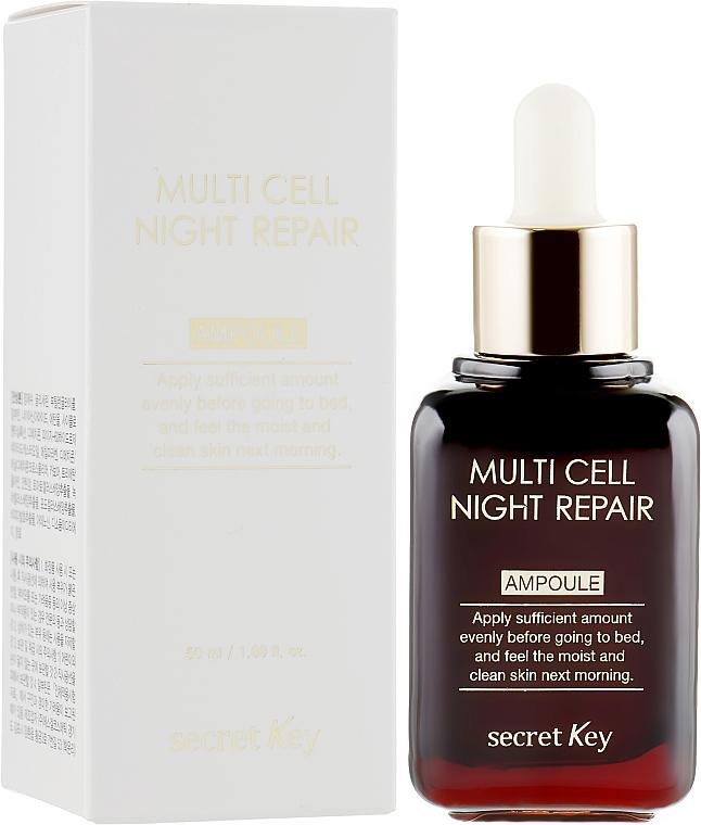 Nočné sérum - Secret Key Multi Cell Night Repair Ampoule