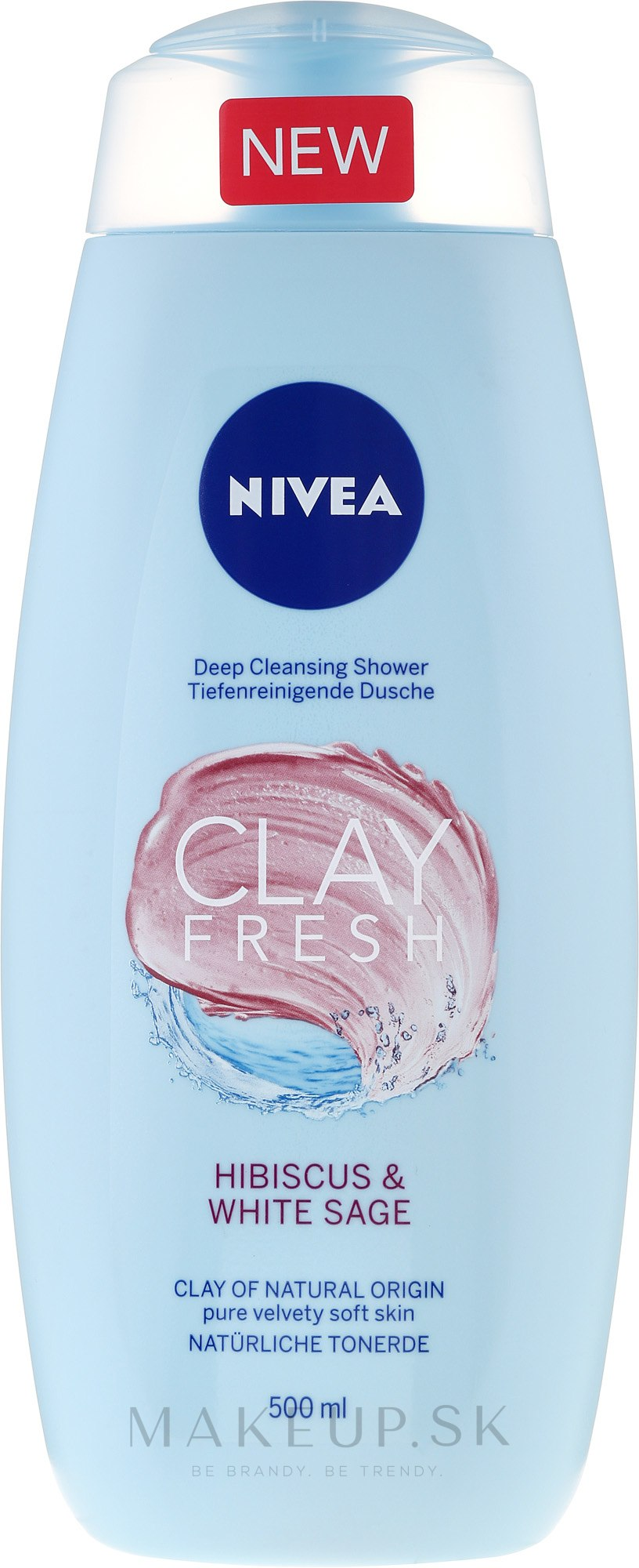 Sprchový gél s ílom - Nivea Clay Fresh Hibiscus & White Sage — Obrázky 500 ml