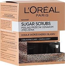 """Voňavky, Parfémy, kozmetika Cukrový scrub na tvár """"3 cukry + kávové zrná"""" - L'Oreal Paris Pure-Sugar Resurface & Energize Kona Coffee Scrub"""