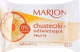 """Voňavky, Parfémy, kozmetika Osviežujúce obrúsky """"Fruits"""", 15ks - Marion"""