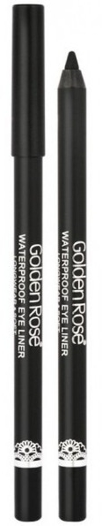 Vodotesné ultra čierne očné linky - Golden Rose Waterproof Eyeliner Longwear & Soft Ultra Black