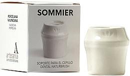 Voňavky, Parfémy, kozmetika Stojan na zubnú kefku, biely - NaturBrush Sommier Toothbrush Holder