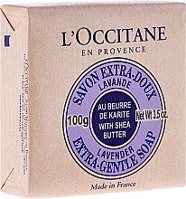 "Voňavky, Parfémy, kozmetika Mydlo ""Karite-levanduľa"" - L'occitane Shea Butter Extra Gentle Soap-Lavender"