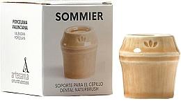 Voňavky, Parfémy, kozmetika Stojan na zubnú kefku, béžový - NaturBrush Sommier Toothbrush Holder