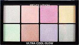 Paleta rozjasňovačov na tvár - Makeup Revolution Ultra Cool Glow — Obrázky N1