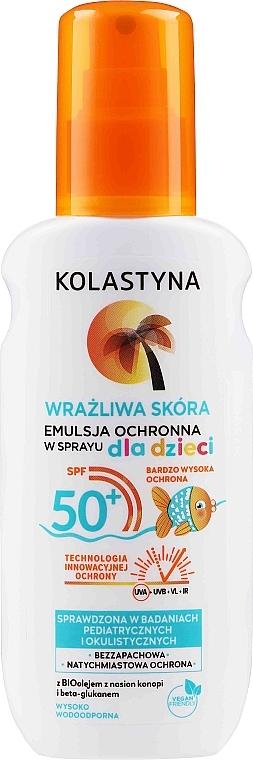 Detská ochranná emulzia v spreji pre citlivú pokožku - Kolastyna Kids Sensitive Skin SPF50