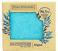 Voňavky, Parfémy, kozmetika Tuhý šampón a kondicionér Morské riasy - Stara Mydlarnia Algae 2in1 Shampoo Bar