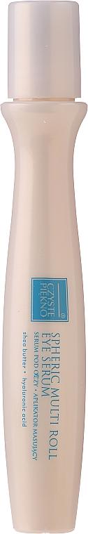 Očné sérum s aplikátorom - Czyste Piekno Active Lifting Eye Serum Cream Massaging Roll On