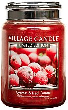Voňavky, Parfémy, kozmetika Vonná sviečka v nádobe - Village Candle Cypress & Iced Currant Glass Jar