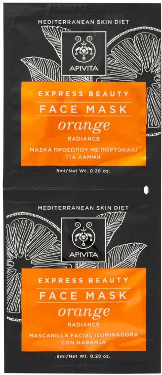 Maska pre zdravie pokožky s pomarančom - Apivita Express Beauty Radiance Face Mask