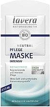 Voňavky, Parfémy, kozmetika Intenzívna výživná maska na tvár - Lavera Neutral Nourishing Intensive Mask