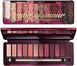 Voňavky, Parfémy, kozmetika Paleta očných tieňov - Eveline Cosmetics Ruby Glamour Eyeshadow Palette