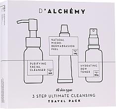 Voňavky, Parfémy, kozmetika Sada - D'Alchemy 3 Step Ultimate Cleansing Travel Pack (toner/30ml + f/cleanser/50ml + f/peel/15ml)