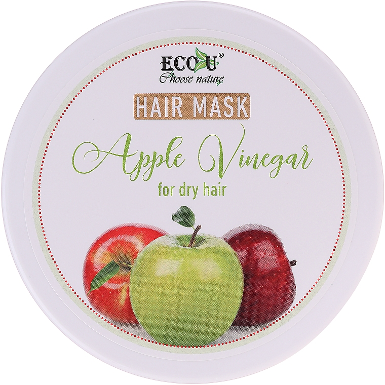 "Maska na suché vlasy ""Jablčný ocot"" - ECO U Apple Vinegar Hair Mask For Dry Hair"