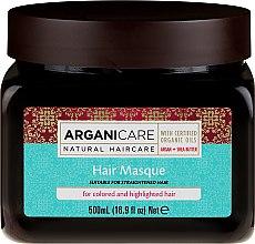 Voňavky, Parfémy, kozmetika Maska na farbené vlasy - Arganicare Shea Butter Argan Oil Hair Masque