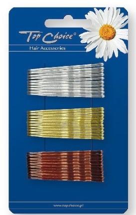 Sponka do vlasov 23736, strieborná, zlatá a bronzová - Top Choice
