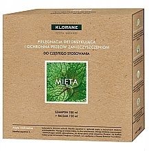 Voňavky, Parfémy, kozmetika Sada - Klorane Aquatic Mint (shm/200ml + h/balm/150ml)