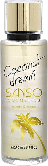 """Hmla na telo """"Kokosový sen"""" - Sanso Cosmetics Coconut Dream Body Spray"""