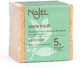 Voňavky, Parfémy, kozmetika Mydlo Aleppo s vavrínovým olejom 5% - Najel Aleppo Soap 5% Bay Laurel Oil