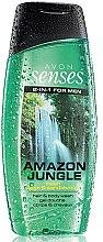 Voňavky, Parfémy, kozmetika Šampónový sprchový gél pre mužov - Avon Senses Amazon Jungle Hair And Body Wash
