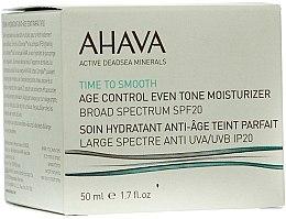 Voňavky, Parfémy, kozmetika Krém omladzujúci, hydratačný, vyhladzujúci tón pleti SPF 20 - Ahava Age Control Even Tone Moisturizer Broad