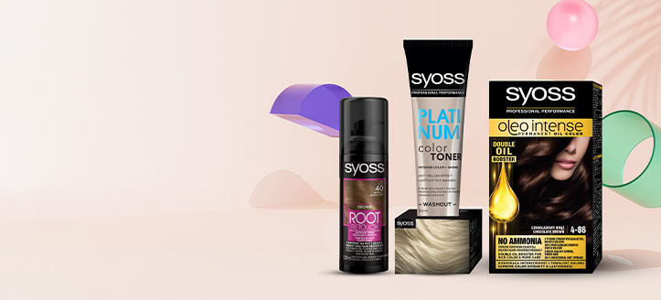 Zľava 25% na akciové prípravky starostlivosti o vlasy Syoss. Ceny na stránke sú uvedené so zľavou