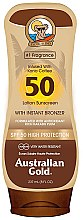 Voňavky, Parfémy, kozmetika Opaľovací lotion s SPF ochranou - Australian Gold Bronzer Lotion SPF50