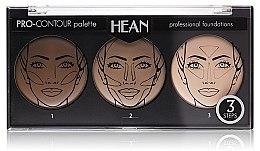 Voňavky, Parfémy, kozmetika Paleta na kontúru tváre, 3 odtiene - Hean Pro-Countour Palette