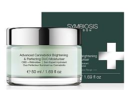 Voňavky, Parfémy, kozmetika Hydratačný krém na rozjasnenie tváre - Symbiosis London Advanced Cannabidiol Brightening & Perfecting DUO Moisturiser