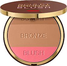 Voňavky, Parfémy, kozmetika Kompaktný púder na tvár 3v1 - Pupa Sculpt Bronze Blush